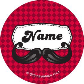 Mustache Personalized Mini Stickers (Sheet of 20)