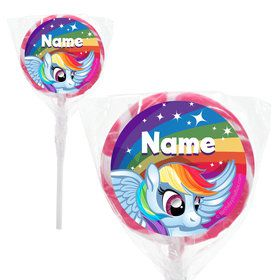 "My Little Party Pony Personalized 2"" Lollipops (20 Pack)"