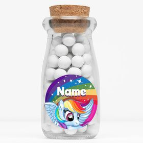 "My Little Party Pony Personalized 4"" Glass Milk Jars (Set of 12)"