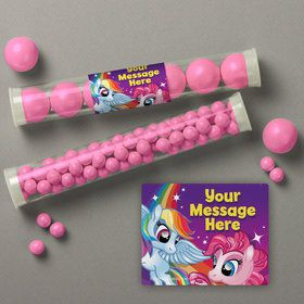 My Little Party Pony Personalized Candy Tubes (12 Count)
