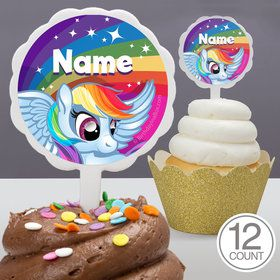 My Little Party Pony Personalized Cupcake Picks (12 Count)