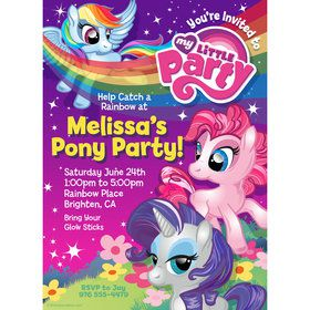 My Little Party Pony Personalized Invitation (Each)