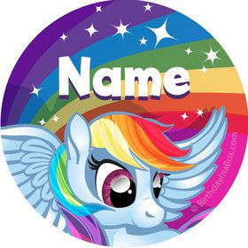 My Little Party Pony Personalized Mini Stickers (Sheet of 24)
