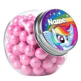 My Little Party Pony Personalized Plain Glass Jars (10 Count)