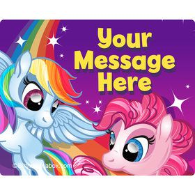 My Little Party Pony Personalized Rectangular Stickers (Sheet of 15)