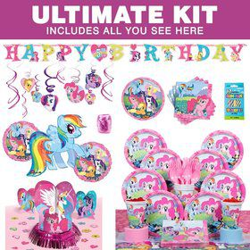 My Little Pony Birthday Party Ultimate Tableware Kit Serves 8