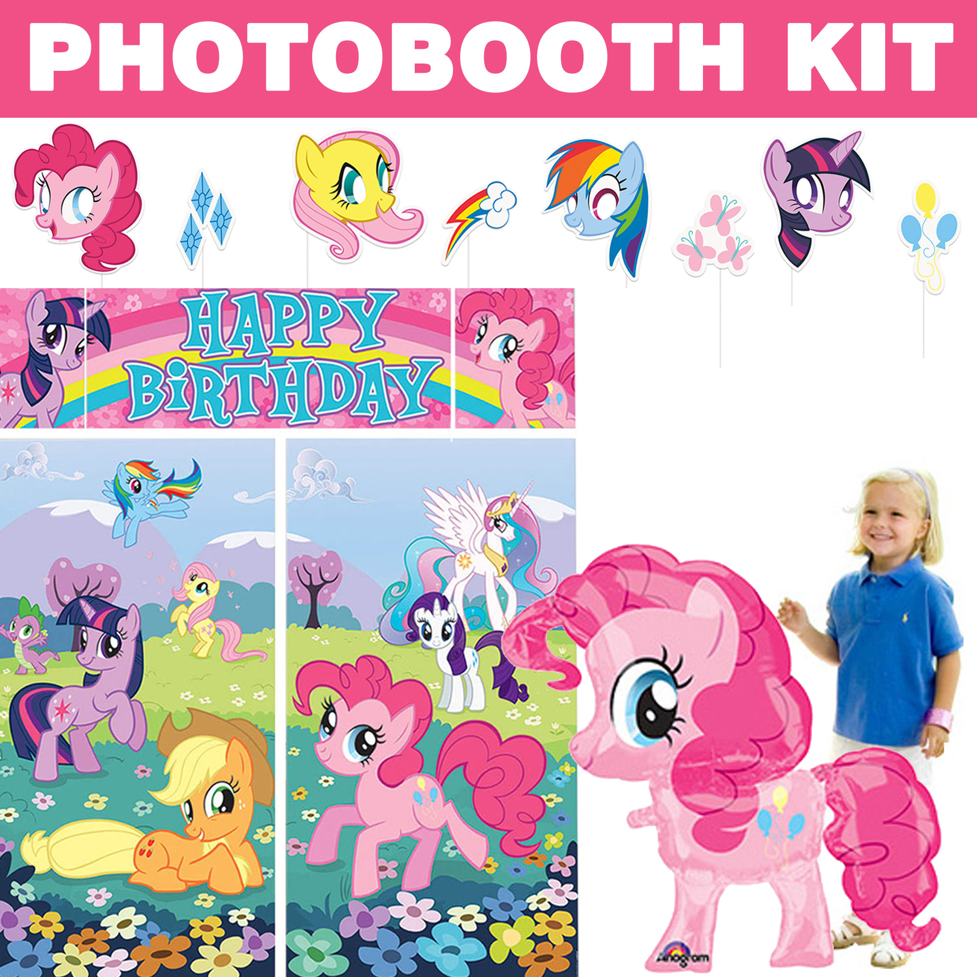 My Little Pony Deluxe Photo Booth Kit - Party Supplies BBKIT1035D