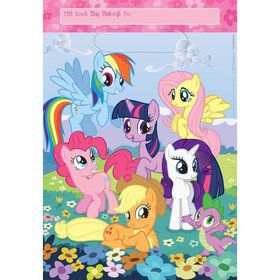 My Little Pony Folded Loot Bags (8 Pack)