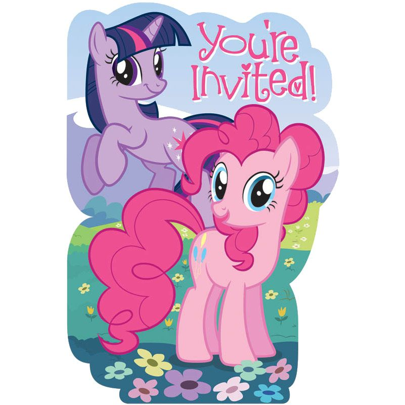 My Little Pony Invitations (8 Pack) BB495513