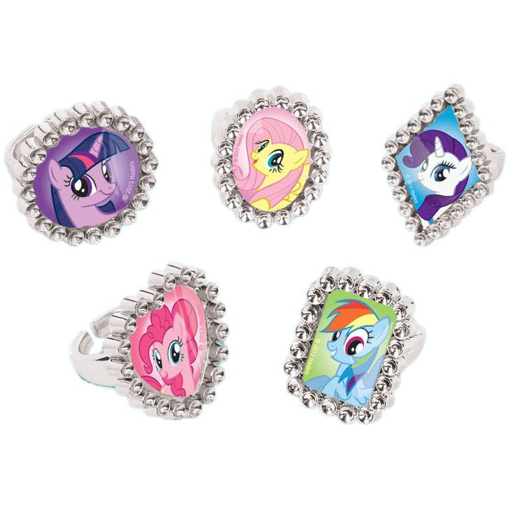 My Little Pony Jewel Rings Favors (18 Pack) BB395518