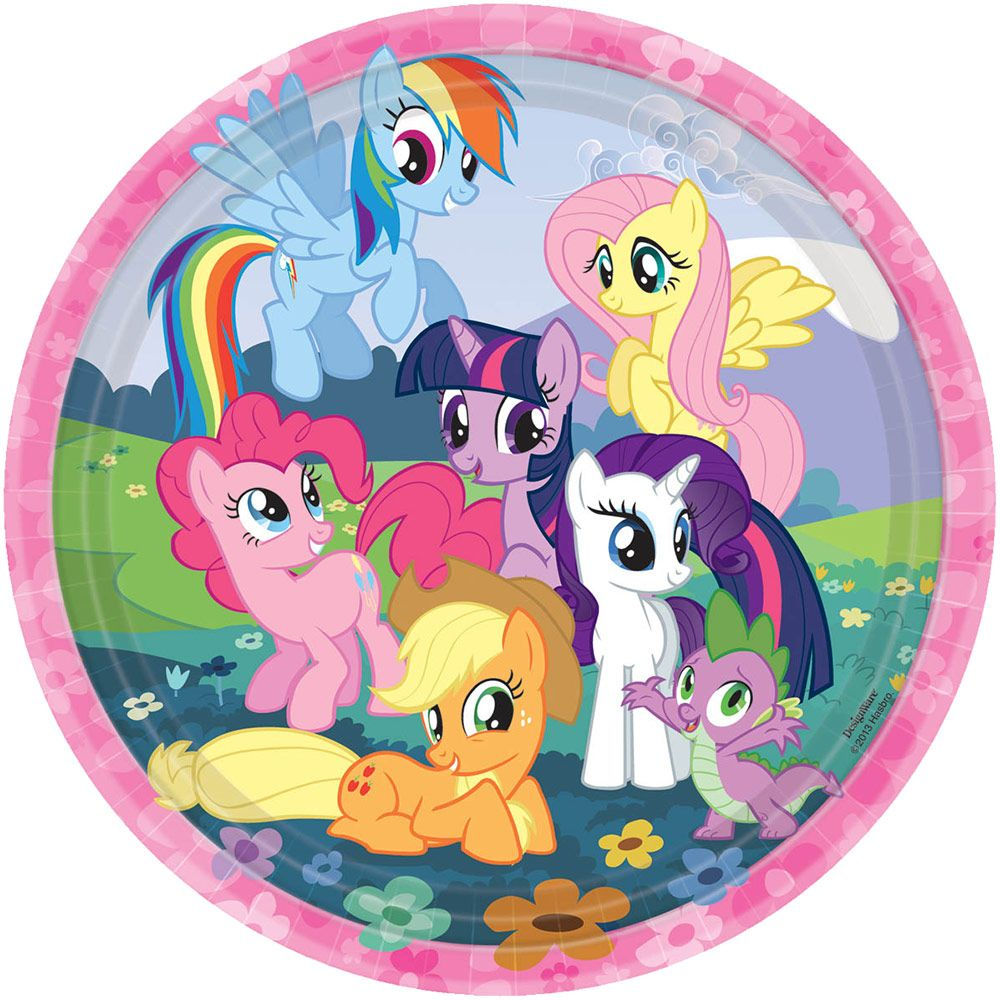 "My Little Pony Plate, 9"" (8 Pack) Birthday Party Supplies Plates BB555513"