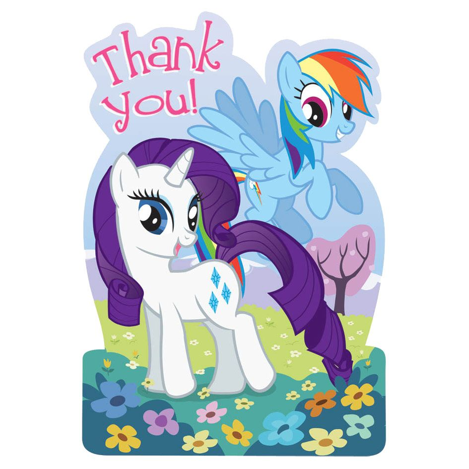 My Little Pony Postcard Thank You Cards (8 Pack) BB485513