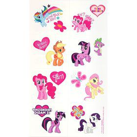 My Little Pony Tattoos Favors (16 Pack)