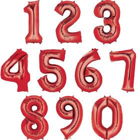 Mylar Red Number Balloons (each)