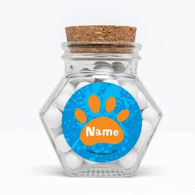 "Mystery Dog Personalized 3"" Glass Hexagon Jars (Set of 12)"