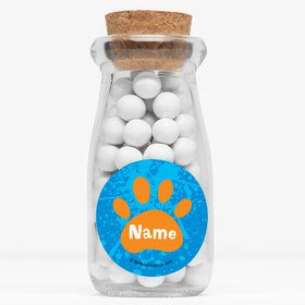 "Mystery Dog Personalized 4"" Glass Milk Jars (Set of 12)"