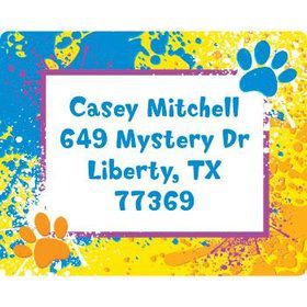 Mystery Dog Personalized Address Labels (sheet of 15)