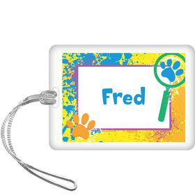 Mystery Dog Personalized Bag Tag (each)