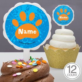 Mystery Dog Personalized Cupcake Picks (12 Count)