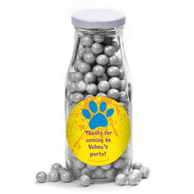 Mystery Dog Personalized Glass Milk Bottles (10 Count)