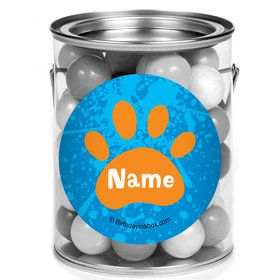 Mystery Dog Personalized Mini Paint Cans (12 Count)