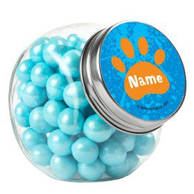 Mystery Dog Personalized Plain Glass Jars (12 Count)