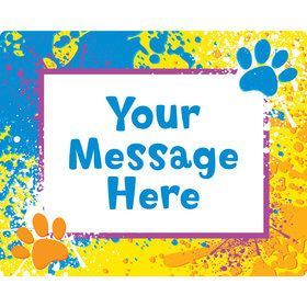 Mystery Dog Personalized Rectangular Stickers (Sheet of 15)