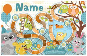 Nature Blue Personalized Activity Mat (8 Pack)