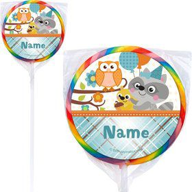 Nature Blue Personalized Lollipops (12 Pack)