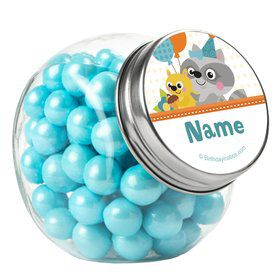 Nature Blue Personalized Plain Glass Jars (10 Count)