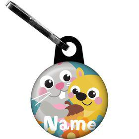 Nature Blue Personalized Zipper Pull (Each)