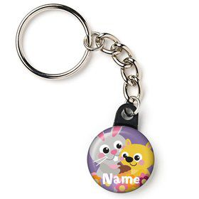 "Nature Pink Personalized 1"" Mini Key Chain (Each)"