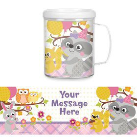 Nature Pink Personalized Favor Mug (Each)
