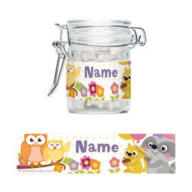 Nature Pink Personalized Glass Apothecary Jars (10 Count)