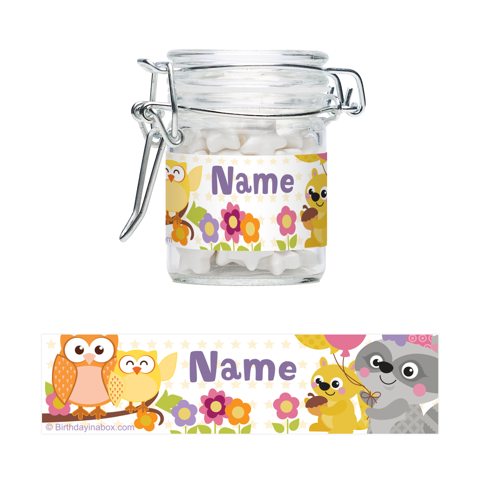 Nature Pink Personalized Glass Apothecary Jars (10 Count) - Party Supplies BB1460AJ