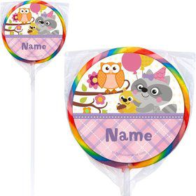Nature Pink Personalized Lollipops (12 Pack)