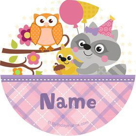 Nature Pink Personalized Stickers (Sheet of 12)