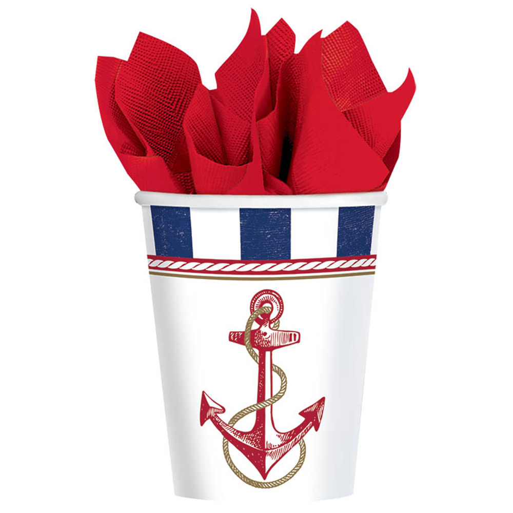 Nautical 9Oz Cups (8 Count) BB581617
