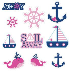 Nautical Girl Wall Cutouts (10 Pieces)