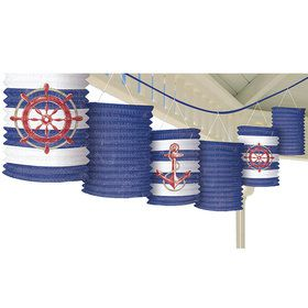Nautical Paper Lantern 12' Garland