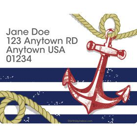 Nautical Personalized Address Labels (Sheet of 15)