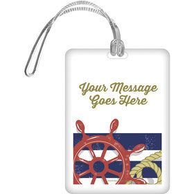 Nautical Personalized Bag Tag (Each)