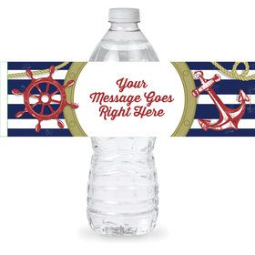 Nautical Personalized Bottle Label (Sheet of 4)