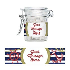 Nautical Personalized Glass Apothecary Jars (10 Count)