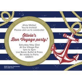 Nautical Personalized Invitation (Each)