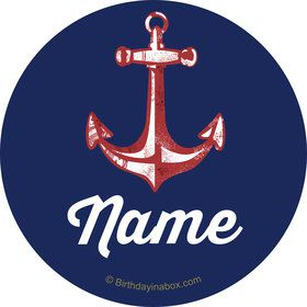 Nautical Personalized Mini Stickers (Sheet of 24)
