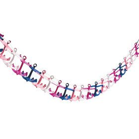Nautical Pink Anchor Garland (Each)