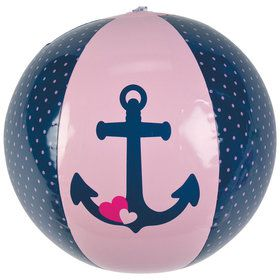 Nautical Pink Beach Balls (12 Count)