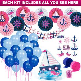 Nautical Pink Decoration Kit