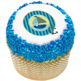 "Nautical Sail Boat 2"" Edible Cupcake Topper (12 Images)"
